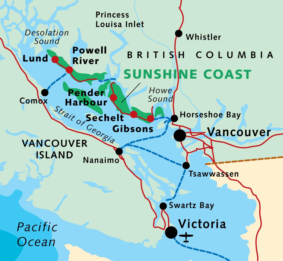 Map Of Sunshine Coast Bc Map Of Sunshine Coast Bc | compressportnederland Map Of Sunshine Coast Bc
